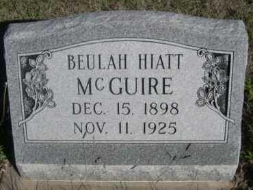 HIATT MCGUIRE, BEULAH - Dawes County, Nebraska | BEULAH HIATT MCGUIRE - Nebraska Gravestone Photos