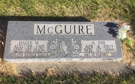 MCGUIRE, A FAY - Dawes County, Nebraska | A FAY MCGUIRE - Nebraska Gravestone Photos