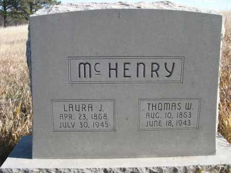 MCHENRY, LAURA J. - Dawes County, Nebraska | LAURA J. MCHENRY - Nebraska Gravestone Photos