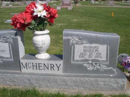MCHENRY, MARION - Dawes County, Nebraska | MARION MCHENRY - Nebraska Gravestone Photos