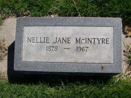 MCINTYRE, NELLIE JANE - Dawes County, Nebraska | NELLIE JANE MCINTYRE - Nebraska Gravestone Photos