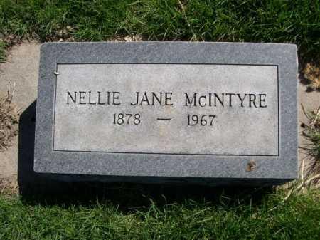 MCINTYRE, NELLIE JANE - Dawes County, Nebraska | NELLIE JANE MCINTYRE - Nebraska Gravestone Photos