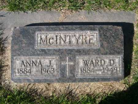 MCINTYRE, ANNA J. - Dawes County, Nebraska | ANNA J. MCINTYRE - Nebraska Gravestone Photos