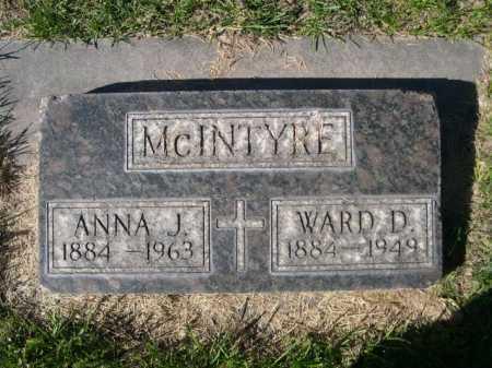 MCINTYRE, WARD D. - Dawes County, Nebraska | WARD D. MCINTYRE - Nebraska Gravestone Photos