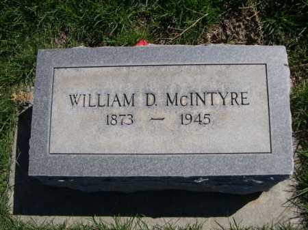 MCINTYRE, WILLIAM D. - Dawes County, Nebraska   WILLIAM D. MCINTYRE - Nebraska Gravestone Photos
