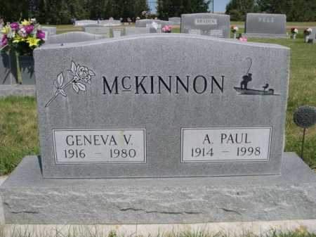 MCKINNON, A. PAUL - Dawes County, Nebraska | A. PAUL MCKINNON - Nebraska Gravestone Photos