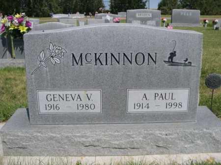 MCKINNON, A. PAUL - Dawes County, Nebraska | A. PAUL MCKINNON - Nebraska Gravestone Photos