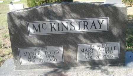 TODD MCKINSTRAY, MYRLE - Dawes County, Nebraska | MYRLE TODD MCKINSTRAY - Nebraska Gravestone Photos