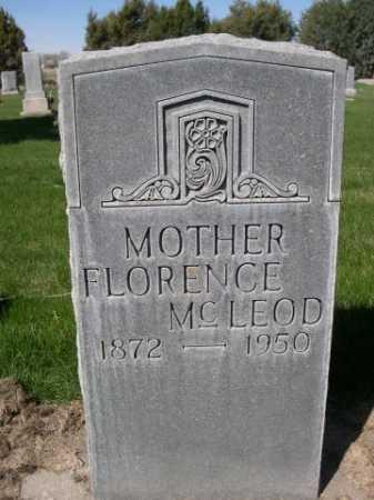 MCLEOD, FLORENCE - Dawes County, Nebraska | FLORENCE MCLEOD - Nebraska Gravestone Photos