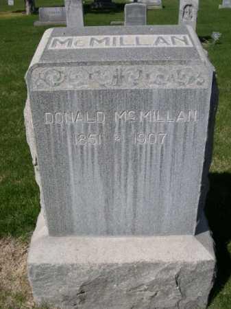 MCMILLAN, DONALD - Dawes County, Nebraska   DONALD MCMILLAN - Nebraska Gravestone Photos