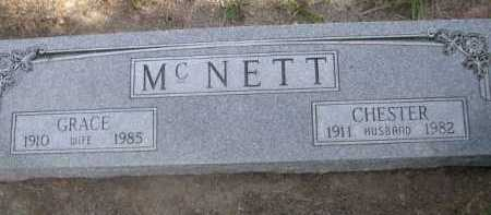 MCNETT, CHESTER - Dawes County, Nebraska | CHESTER MCNETT - Nebraska Gravestone Photos