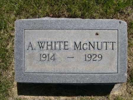 MCNUTT, A. WHITE - Dawes County, Nebraska   A. WHITE MCNUTT - Nebraska Gravestone Photos