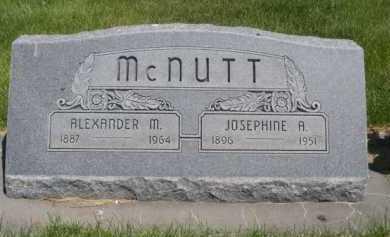 MCNUTT, JOSEPHINE A. - Dawes County, Nebraska   JOSEPHINE A. MCNUTT - Nebraska Gravestone Photos