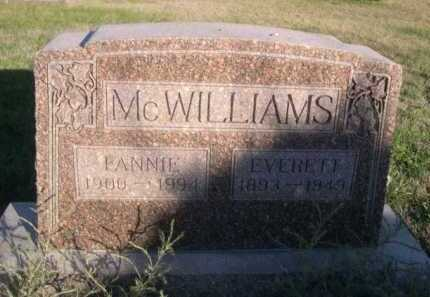 MCWILLIAMS, FANNIE - Dawes County, Nebraska | FANNIE MCWILLIAMS - Nebraska Gravestone Photos
