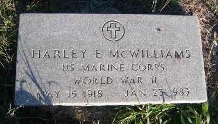 MCWILLIAMS, HARLEY E. - Dawes County, Nebraska | HARLEY E. MCWILLIAMS - Nebraska Gravestone Photos
