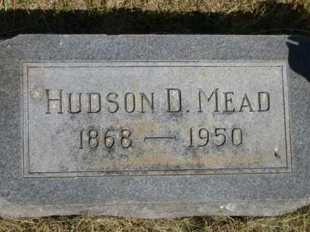 MEAD, HUDSON D. - Dawes County, Nebraska   HUDSON D. MEAD - Nebraska Gravestone Photos