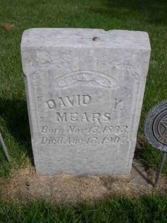 MEARS, DAVID Y. - Dawes County, Nebraska   DAVID Y. MEARS - Nebraska Gravestone Photos