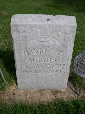 MEARS, DAVID Y. - Dawes County, Nebraska | DAVID Y. MEARS - Nebraska Gravestone Photos