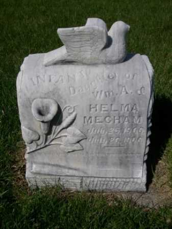 MECHAM, INFANT DAU OF WM A. & HELMA - Dawes County, Nebraska   INFANT DAU OF WM A. & HELMA MECHAM - Nebraska Gravestone Photos