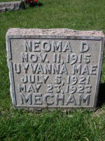 MECHAM, UYVANNA MAE - Dawes County, Nebraska | UYVANNA MAE MECHAM - Nebraska Gravestone Photos