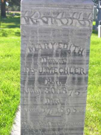 MECHLER, MARY EDITH - Dawes County, Nebraska | MARY EDITH MECHLER - Nebraska Gravestone Photos