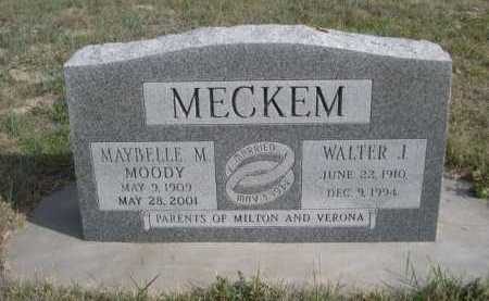 MECKEM, WALTER I. - Dawes County, Nebraska | WALTER I. MECKEM - Nebraska Gravestone Photos