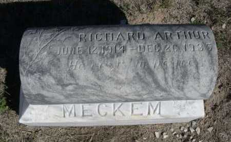 MECKEM, RICHARD ARTHUR - Dawes County, Nebraska   RICHARD ARTHUR MECKEM - Nebraska Gravestone Photos