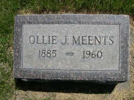 MEENTS, OLLIE J. - Dawes County, Nebraska | OLLIE J. MEENTS - Nebraska Gravestone Photos