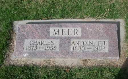 MEER, CHARLES - Dawes County, Nebraska   CHARLES MEER - Nebraska Gravestone Photos
