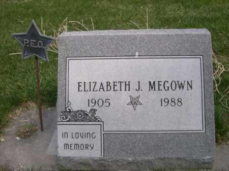 MEGOWN, ELIZABETH J. - Dawes County, Nebraska   ELIZABETH J. MEGOWN - Nebraska Gravestone Photos