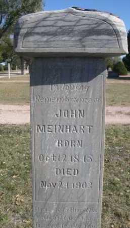 MEINHART, JOHN - Dawes County, Nebraska | JOHN MEINHART - Nebraska Gravestone Photos
