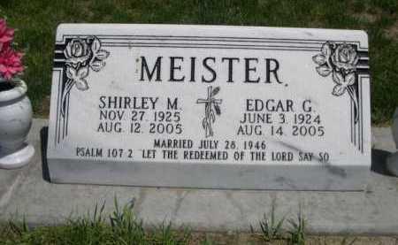 MEISTER, EDGAR G. - Dawes County, Nebraska | EDGAR G. MEISTER - Nebraska Gravestone Photos