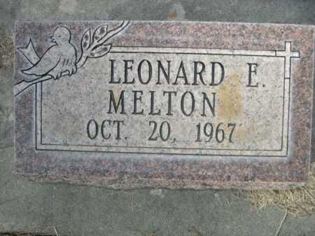 MELTON, LEONARD E. - Dawes County, Nebraska | LEONARD E. MELTON - Nebraska Gravestone Photos
