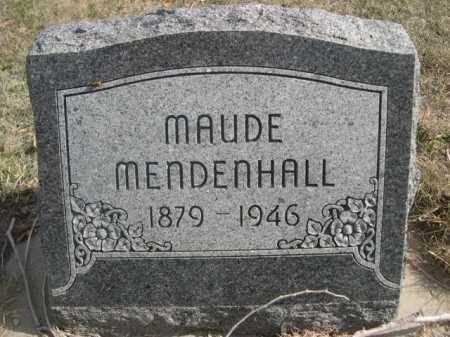 MENDENHALL, MAUDE - Dawes County, Nebraska | MAUDE MENDENHALL - Nebraska Gravestone Photos