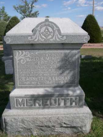 LEONARD MEREDITH, JEANNETTE - Dawes County, Nebraska | JEANNETTE LEONARD MEREDITH - Nebraska Gravestone Photos