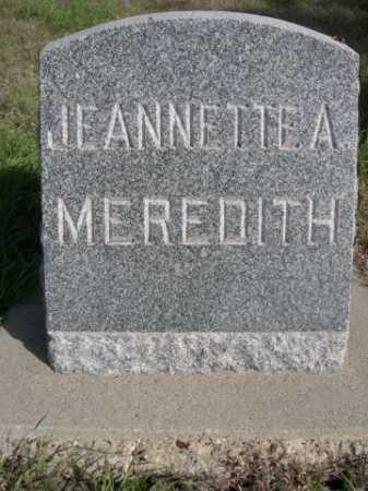 MEREDITH, JEANNETTE A. - Dawes County, Nebraska | JEANNETTE A. MEREDITH - Nebraska Gravestone Photos