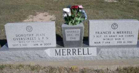 MERRELL, FRANCIS A. - Dawes County, Nebraska | FRANCIS A. MERRELL - Nebraska Gravestone Photos