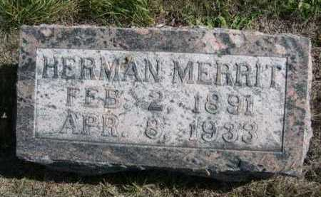 MERRIT, HERMAN - Dawes County, Nebraska | HERMAN MERRIT - Nebraska Gravestone Photos