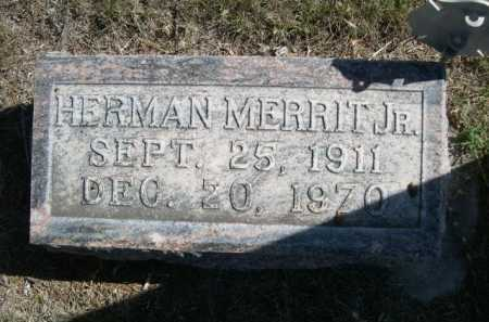 MERRIT, HERMAN JR. - Dawes County, Nebraska | HERMAN JR. MERRIT - Nebraska Gravestone Photos