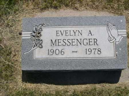 MESSENGER, EVELYN A. - Dawes County, Nebraska | EVELYN A. MESSENGER - Nebraska Gravestone Photos