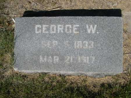 MESSENGER, GEORGE W. - Dawes County, Nebraska | GEORGE W. MESSENGER - Nebraska Gravestone Photos