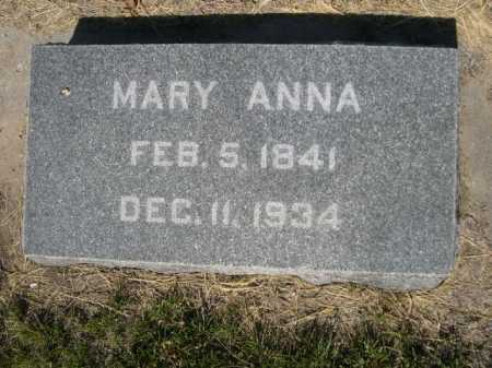 MESSENGER, MARY ANNA - Dawes County, Nebraska   MARY ANNA MESSENGER - Nebraska Gravestone Photos