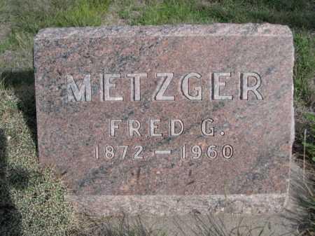 METZGER, FRED G. - Dawes County, Nebraska | FRED G. METZGER - Nebraska Gravestone Photos