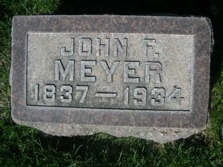 MEYER, JOHN F. - Dawes County, Nebraska | JOHN F. MEYER - Nebraska Gravestone Photos