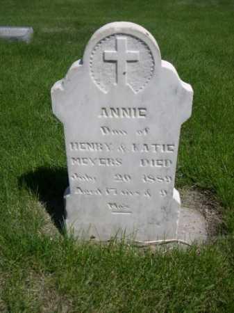 MEYERS, ANNIE - Dawes County, Nebraska   ANNIE MEYERS - Nebraska Gravestone Photos