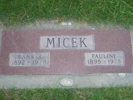 MICEK, FRANK L. - Dawes County, Nebraska | FRANK L. MICEK - Nebraska Gravestone Photos