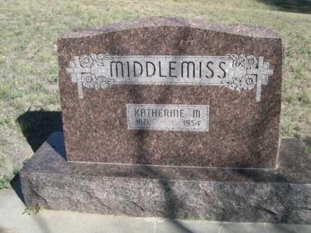 MIDDLEMISS, KATHERINE M. - Dawes County, Nebraska   KATHERINE M. MIDDLEMISS - Nebraska Gravestone Photos