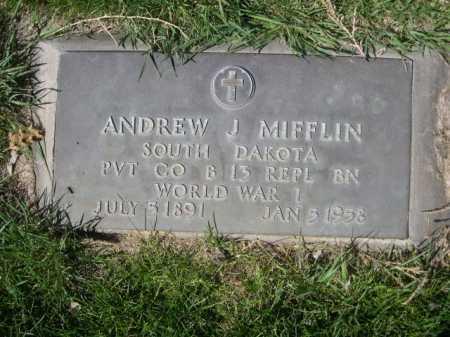 MIFFLIN, ANDREW J. - Dawes County, Nebraska | ANDREW J. MIFFLIN - Nebraska Gravestone Photos