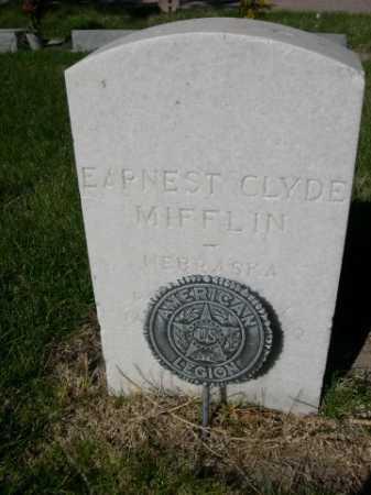 MIFFLIN, EARRNEST CLYDE - Dawes County, Nebraska   EARRNEST CLYDE MIFFLIN - Nebraska Gravestone Photos