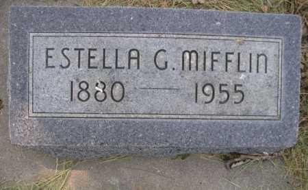 MIFFLIN, ESTELLA G. - Dawes County, Nebraska | ESTELLA G. MIFFLIN - Nebraska Gravestone Photos
